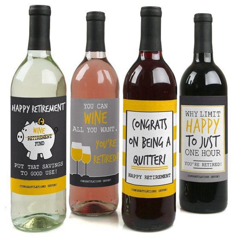 Retirement Wine Labels