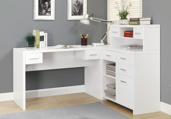 White Desk with Drawers